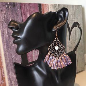 New Bronze Tasseled Earrings